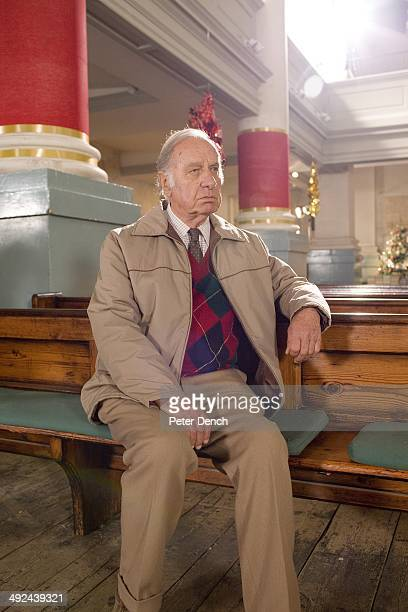 Geoffrey Palmer on set of filming Rev 2 Rev is a BBC sitcom about a vicar running a modern innercity church with a reluctant wife and a depleted...