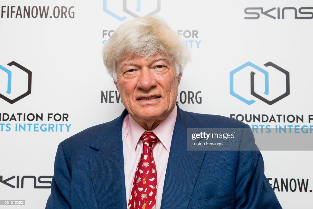 Geoffrey Robertson Q.C. attends The Foundation For Sports Integrity (FFSI) inaugural 'Sports, Politics and Integrity Conference' at Four Seasons Hotel on May 31, 2018 in London, England.