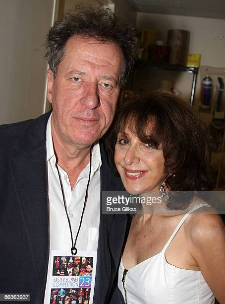 Geoffrey Rush and Andrea Martin pose at The 2009 Broadway Cares Equity Fights AIDS Easter Bonnet Competition on Broadway at The Minskoff Theater on...