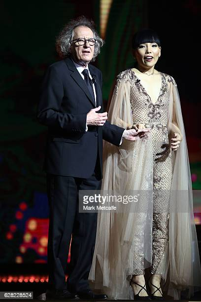 Geoffrey Rush and Dami Im during the 6th AACTA Awards Presented by Foxtel at The Star on December 7 2016 in Sydney Australia