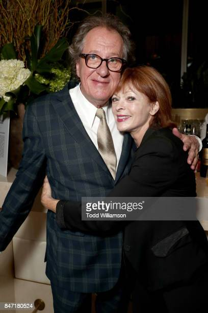 Geoffrey Rush and Frances Fisher attend The Hollywood Reporter and SAGAFTRA Inaugural Emmy Nominees Night presented by American Airlines Breguet and...