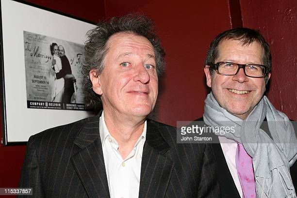 Geoffrey Rush and Neil Armfield during Opening Night of Exit The King Starring Geoffrey Rush in Sydney on June 132007 at Belvoir St Theatre in Sydney...