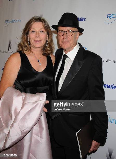 Geoffrey Rush and wife Jane Menelaus arrive at The Weinstein Company and Relativity Media's 2011 Golden Globe After Party presented by Marie Claire...