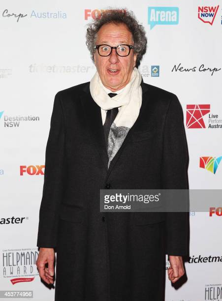 Geoffrey Rush arrives at the 2014 Helpmann Awards at the Capitol Theatre on August 18 2014 in Sydney Australia