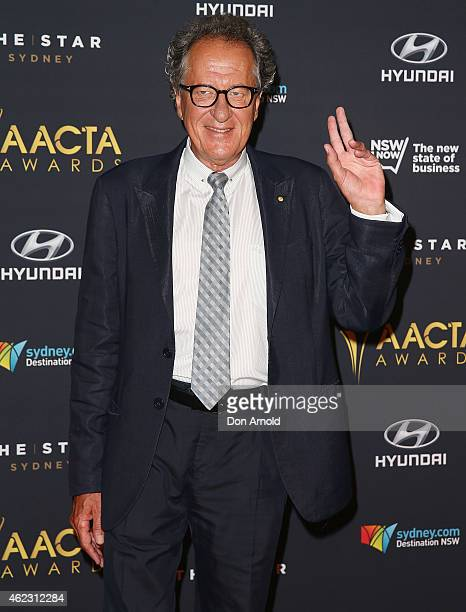 Geoffrey Rush arrives at the 4th AACTA Awards Luncheon at The Star on January 27, 2015 in Sydney, Australia.