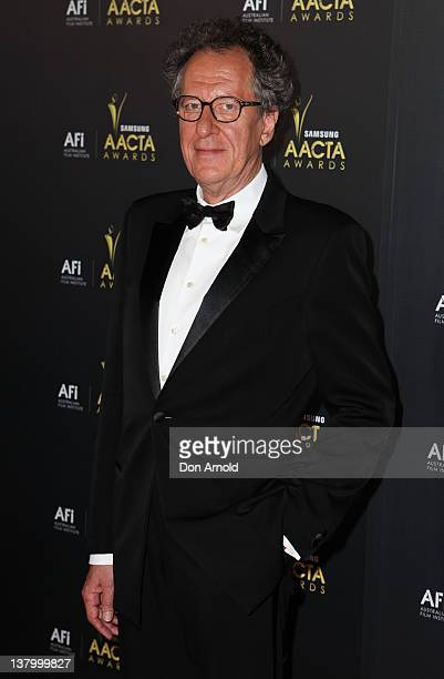 Geoffrey Rush arrives for the 2012 AACTA Awards at Sydney Opera House on January 31 2012 in Sydney Australia