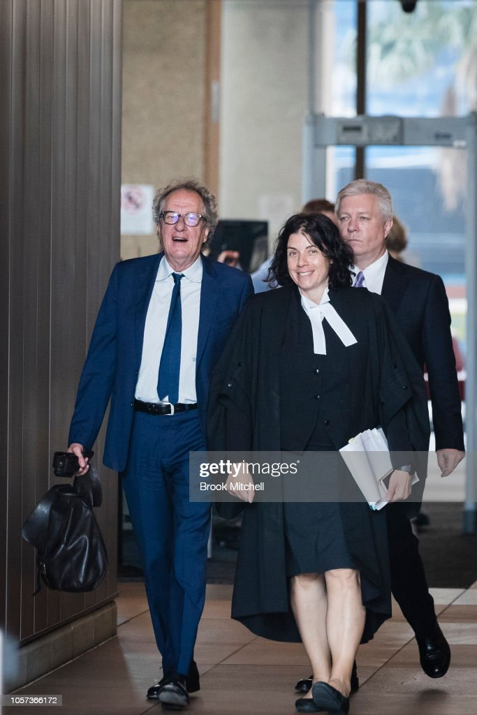 Geoffrey Rush Attends Court As Defamation Trial Against Daily Telegraph Continues : News Photo