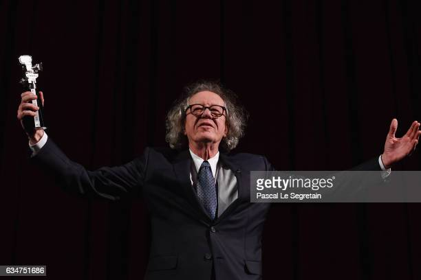 Geoffrey Rush attends the 'Final Portrait' premiere during the 67th Berlinale International Film Festival Berlin at Berlinale Palace on February 11...