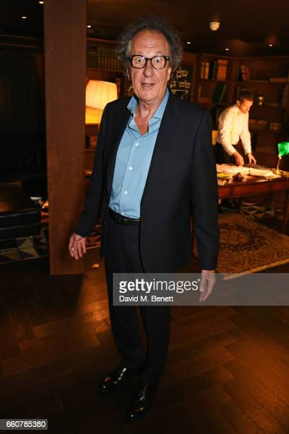 Geoffrey Rush attends the London Premiere after party for the National Geographic Channel's 'Genius' at Quaglino's on March 30 2017 in London United...