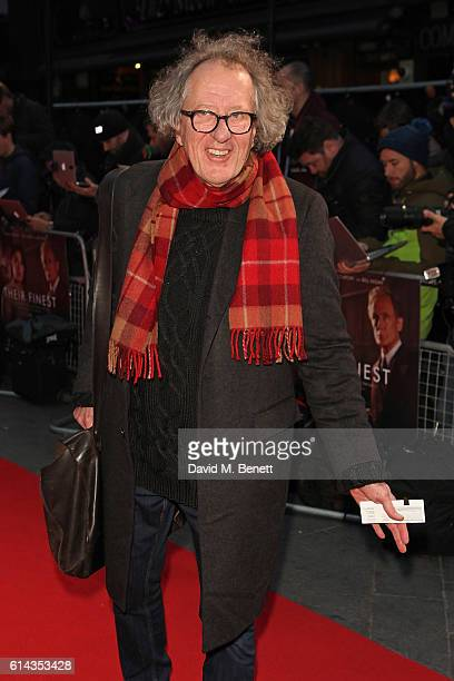 Geoffrey Rush attends the Mayor's Centrepiece Gala screening of 'Their Finest' during the 60th BFI London Film Festival at Odeon Leicester Square on...