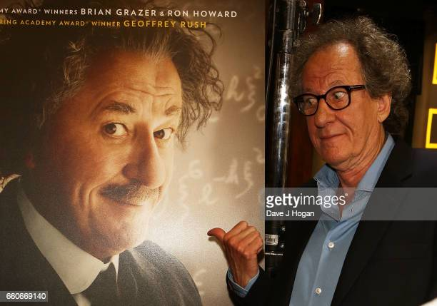 Geoffrey Rush attends the National Geographic Channel's 'Genius' London Premiere on March 30 2017 in London United Kingdom