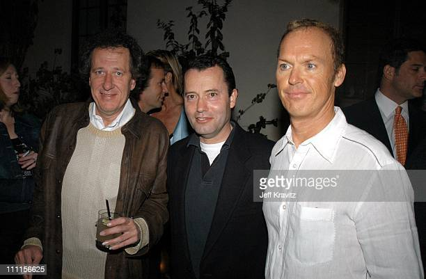 Geoffrey Rush Colin Callender of HBO and Michael Keaton *Exclusive*