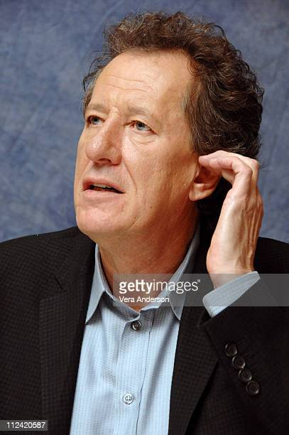 Geoffrey Rush during 'Pirates of the Caribbean At World's End' Press Conference with Orlando Bloom Gore Verbinski Chow Yun Fat Geoffrey Rush Jerry...