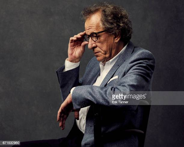 Geoffrey Rush from 'Genius' poses at the 2017 Tribeca Film Festival portrait studio on April 21 2017 in New York City