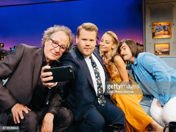 Geoffrey Rush Nicole Richie and Jason Schwartzman chat with James Corden during 'The Late Late Show with James Corden' Monday April 24 2017 On The...