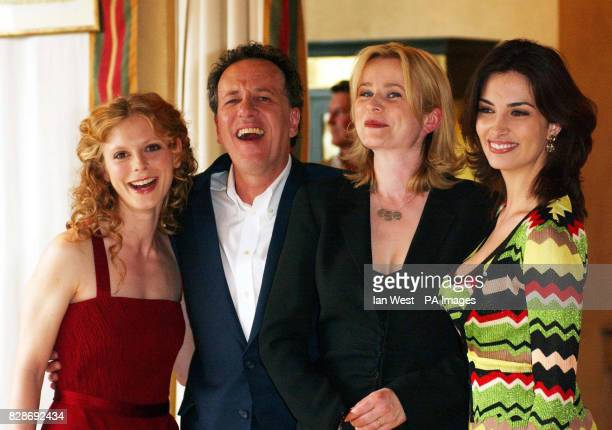 Geoffrey Rush who plays Peter Sellers in the new film 'The Life and Death of Peter Sellers' poses with Emilia Fox who plays his 4th wife Lynne...