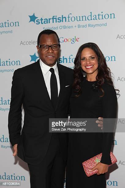 Geoffrey S Fletcher and Soledad O'Brien attend Soledad O'Brien Brad Raymond Starfish Foundation hosts Fifth Annual New Orleans to New York City Gala...