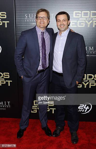 Geoffrey Shaevitz and producer Kent Kubena attend the 'Gods Of Egypt' New York premiere at AMC Loews Lincoln Square 13 on February 24 2016 in New...