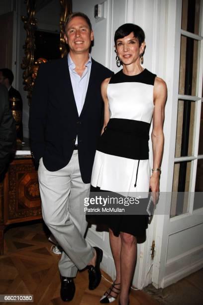 Geoffrey Sharp and Amy Fine Collins attend Reception for Geoffrey Bradfield EX ARTE Book Launch at Carlton Hobbs Mansion on June 23 2009 in New York