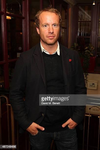 "Geoffrey Streatfeild attends the press night of ""Oresteia"" at the Trafalgar Studios on September 7, 2015 in London, England."