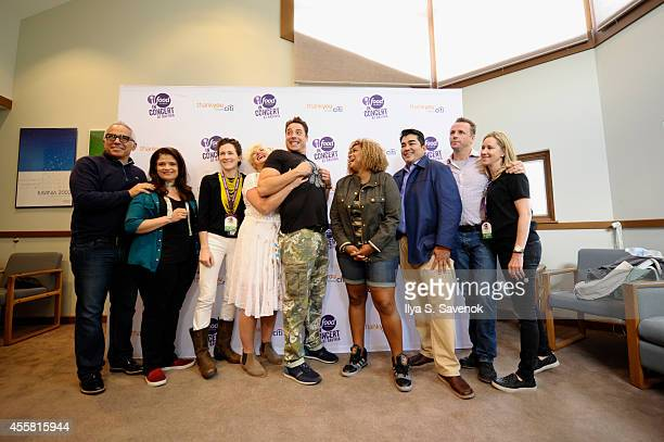 Geoffrey Zakarian Alex Guarnaschelli Maile Carpenter Anne Burrell Jeff Mauro Sunny Anderson Jose Garces Marc Murphy and Vicki Wellington attend Food...
