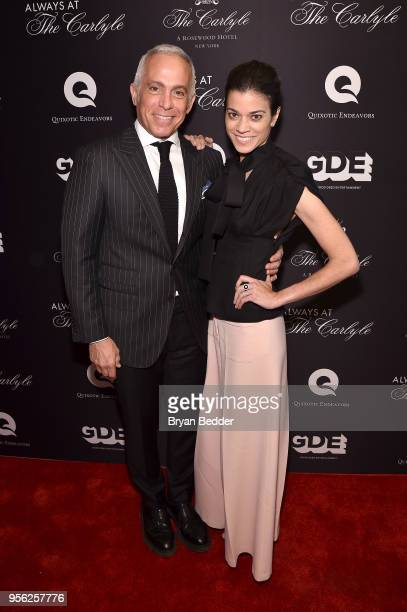 Geoffrey Zakarian and Margaret Anne Williams attend the Always At The Carlyle Premiere on May 8 2018 in New York City