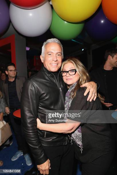 Geoffrey Zakarian and Valerie Bertinelli attend Food Network's 25th Birthday Party Celebration at the 11th annual New York City Wine Food Festival at...
