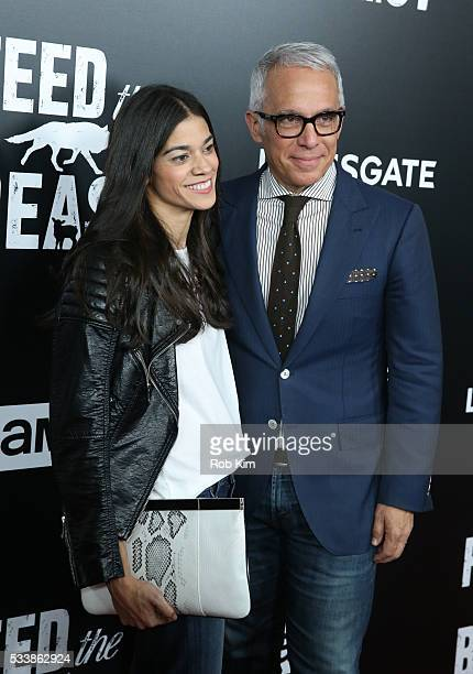 Geoffrey Zakarian and wife Margaret Anne Williams attend the New York Screening of Feed The Beast at Angelika Film Center on May 23 2016 in New York...