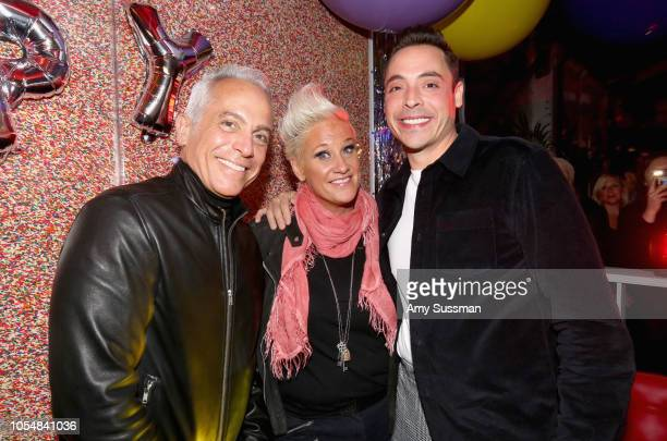 Geoffrey Zakarian Anne Burrell and Jeff Mauro attend Food Network's 25th Birthday Party Celebration at the 11th annual New York City Wine Food...