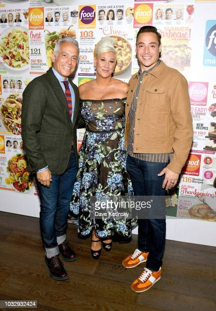 Geoffrey Zakarian Anne Burrell and Jeff Mauro attend the Food Network Magazine's 10th Birthday Celebration at Chelsea Piers at Pier 59 on September...