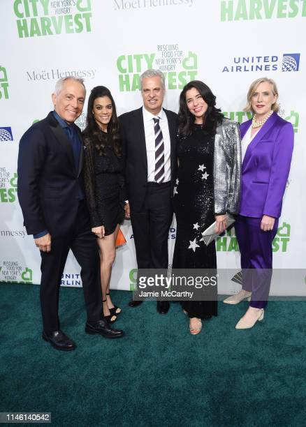 Geoffrey Zakarian Margaret Anne Williams Eric Ripert Sandra Ripert and Jilly Stephens attend City Harvest The 2019 Gala on April 30 2019 at Cipriani...