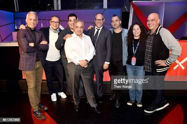 Geoffrey Zakarian Masaharu Morimoto Jose Garces Founder and director of the Food Network Cooking Channel New York City Wine Food Festival presented...