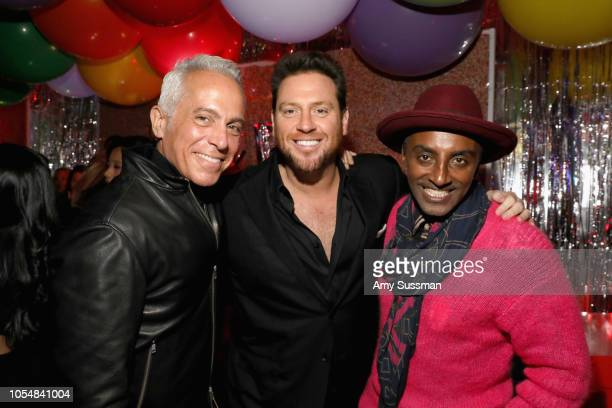 Geoffrey Zakarian Scott Conant and Marcus Samuelsson attend Food Network's 25th Birthday Party Celebration at the 11th annual New York City Wine Food...