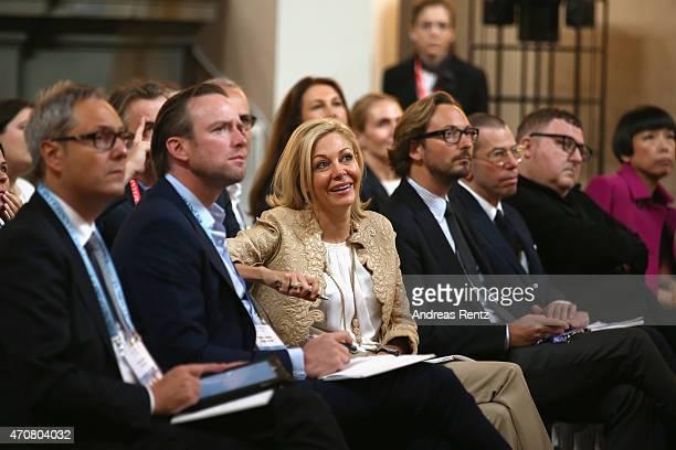 Geoffrory de La Bourdonnaye President of Chloe Rupert Adams Nadja Swarovski and Nicolas Bos attend the Conde' Nast International Luxury Conference at...