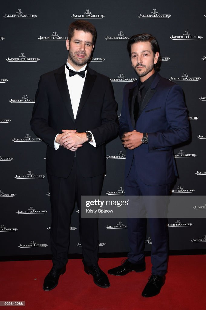 Geoffroy Lefebvre and Diego Luna attend Jaeger-LeCoultre Polaris Gala Evening at the SIHH 2018 at Pavillon Sicli on January 15, 2018 in Les Acacias, Switzerland.