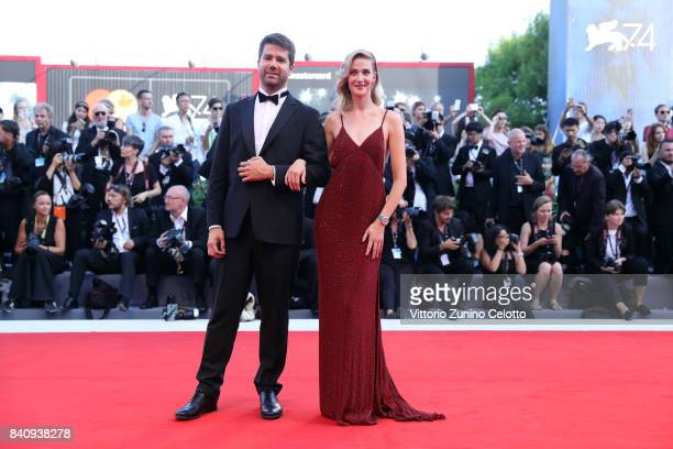 Geoffroy Lefebvre and Eva Riccobono walk the red carpet ahead of the 'Downsizing' screening and Opening Ceremony during the 74th Venice Film Festival...