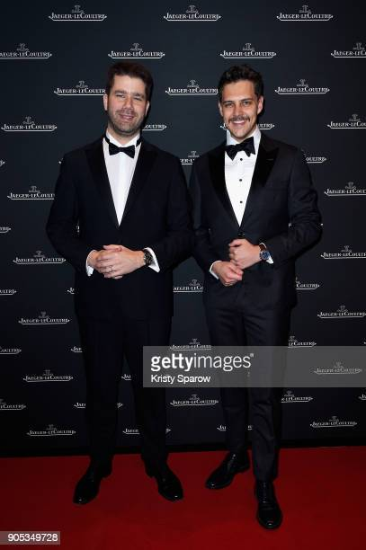 Geoffroy Lefebvre and Milosh Bikovich attend JaegerLeCoultre Polaris Gala Evening at the SIHH 2018 at Pavillon Sicli on January 15 2018 in Les...