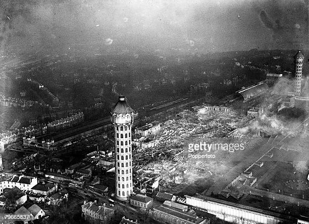 Geography 1st December 1936 London England Europe A panoramic view of the Crystal Palace one of Londons great landmarks the morning after it was...