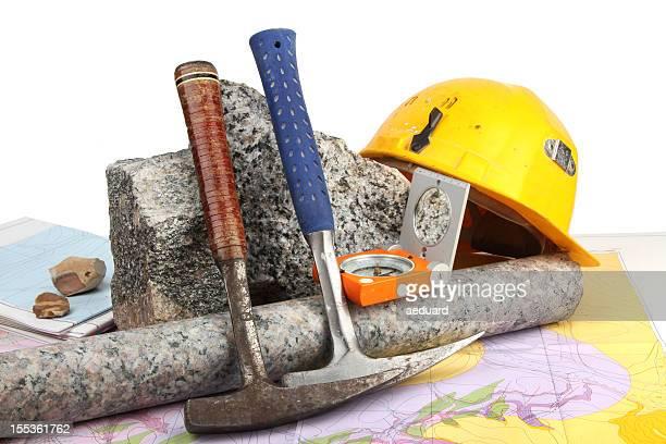 geológicos fieldwork ferramentas - geologia imagens e fotografias de stock