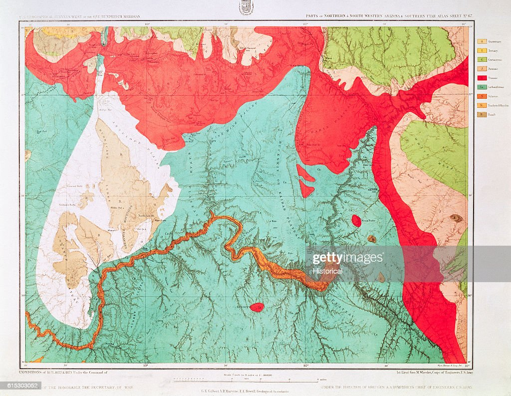 Geologic Map of Grand Canyon Area Pictures | Getty Images