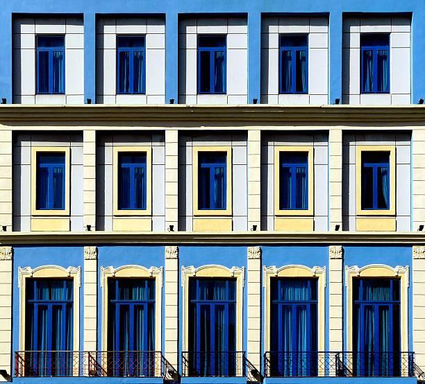 Geometric colonial buildings