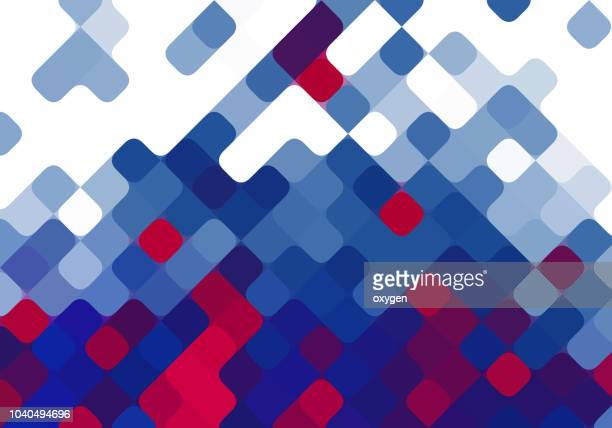 geometric mosaic abstract background - motivo ornamentale foto e immagini stock