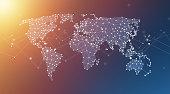 Geometric Network World Map Polygon Graphic Background