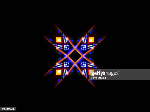 a geometric pattern of a group of light rays - quadrado formato bidimensional - fotografias e filmes do acervo