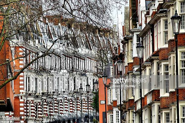 Geometric Pattern of House Facades in London