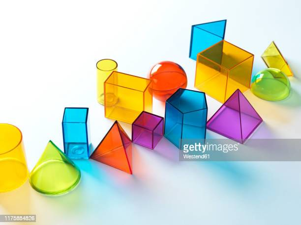geometric shapes on white background - choice stock pictures, royalty-free photos & images