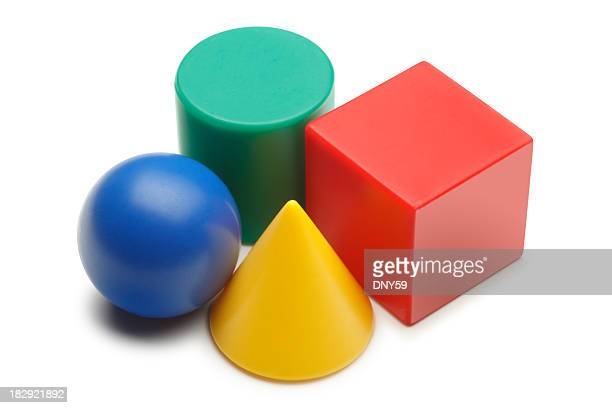 geometric shapes - cone shaped objects stock pictures, royalty-free photos & images
