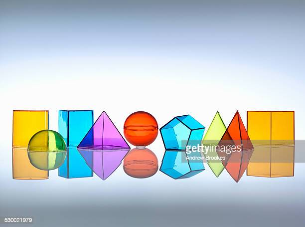 geometric shapes used in maths and calculus education - shape stock pictures, royalty-free photos & images
