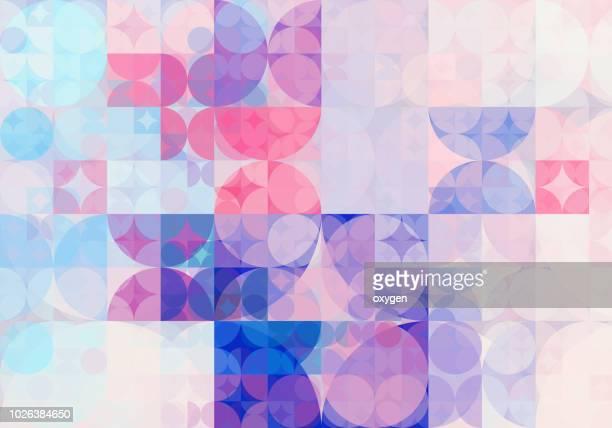 geometric triangle and circle shape, wide abstract background - rayado diseño fotografías e imágenes de stock