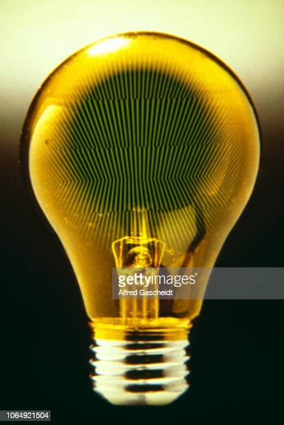 Geometrical parallel lines form the filament of a light bulb 1983